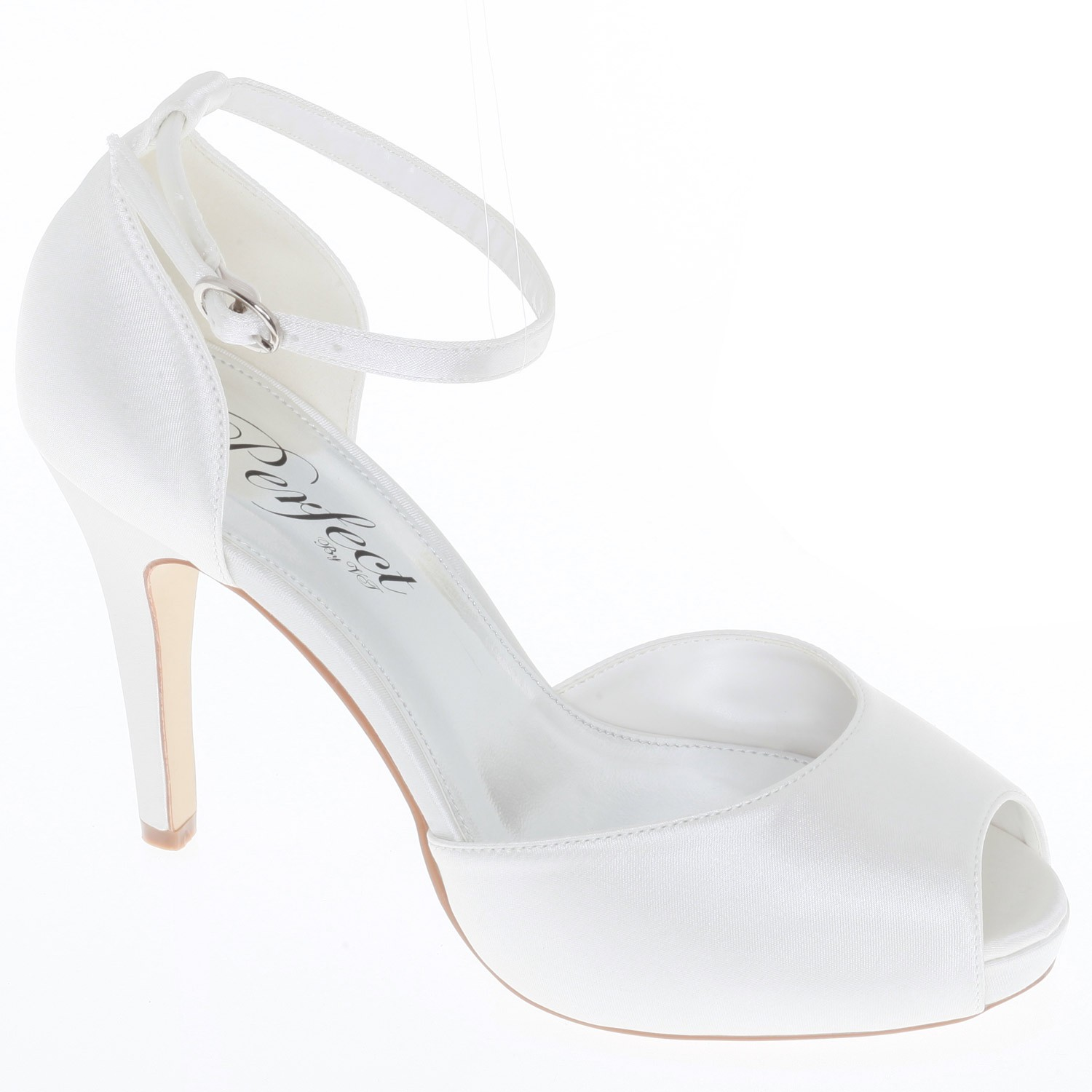 chaussures de marie bout ouvert bride kirsten - Besson Chaussures Mariage