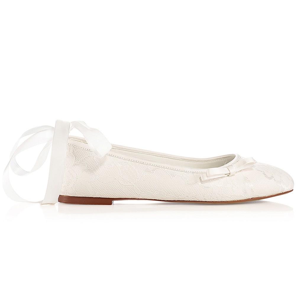 Chaussures de mariée ivoire Lottie  Chaussures mariée sans talon Lottie ... 45cfc27c8f25