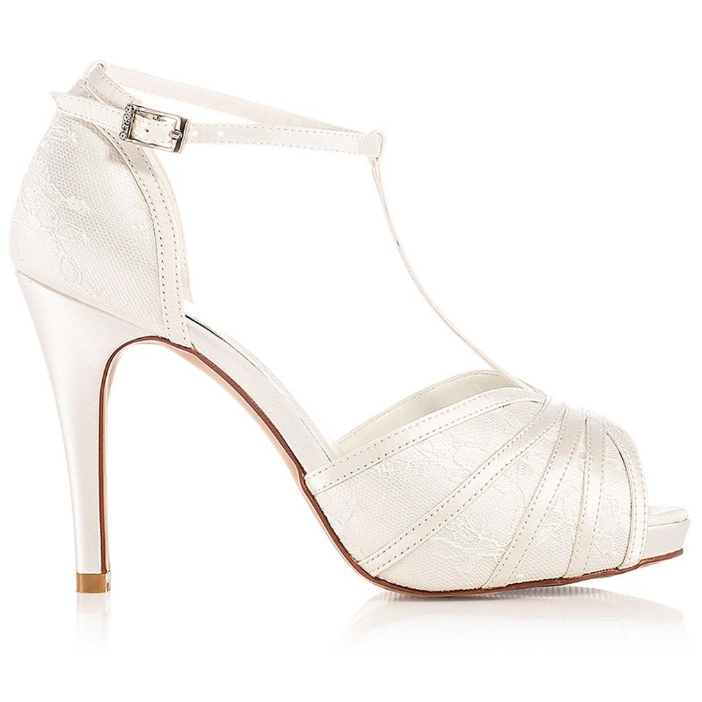 acheter en ligne 6d2bc efe3e Chaussure mariage dentelle ivoire ou blanche Scarlett