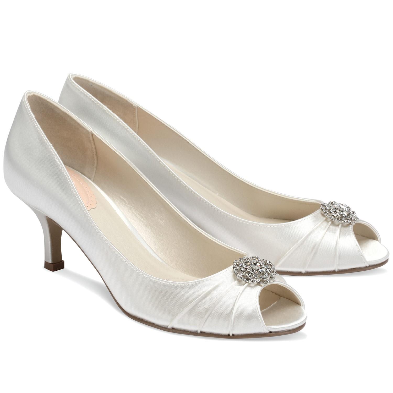 chaussures mari e en satin ivoire petit talon zest. Black Bedroom Furniture Sets. Home Design Ideas