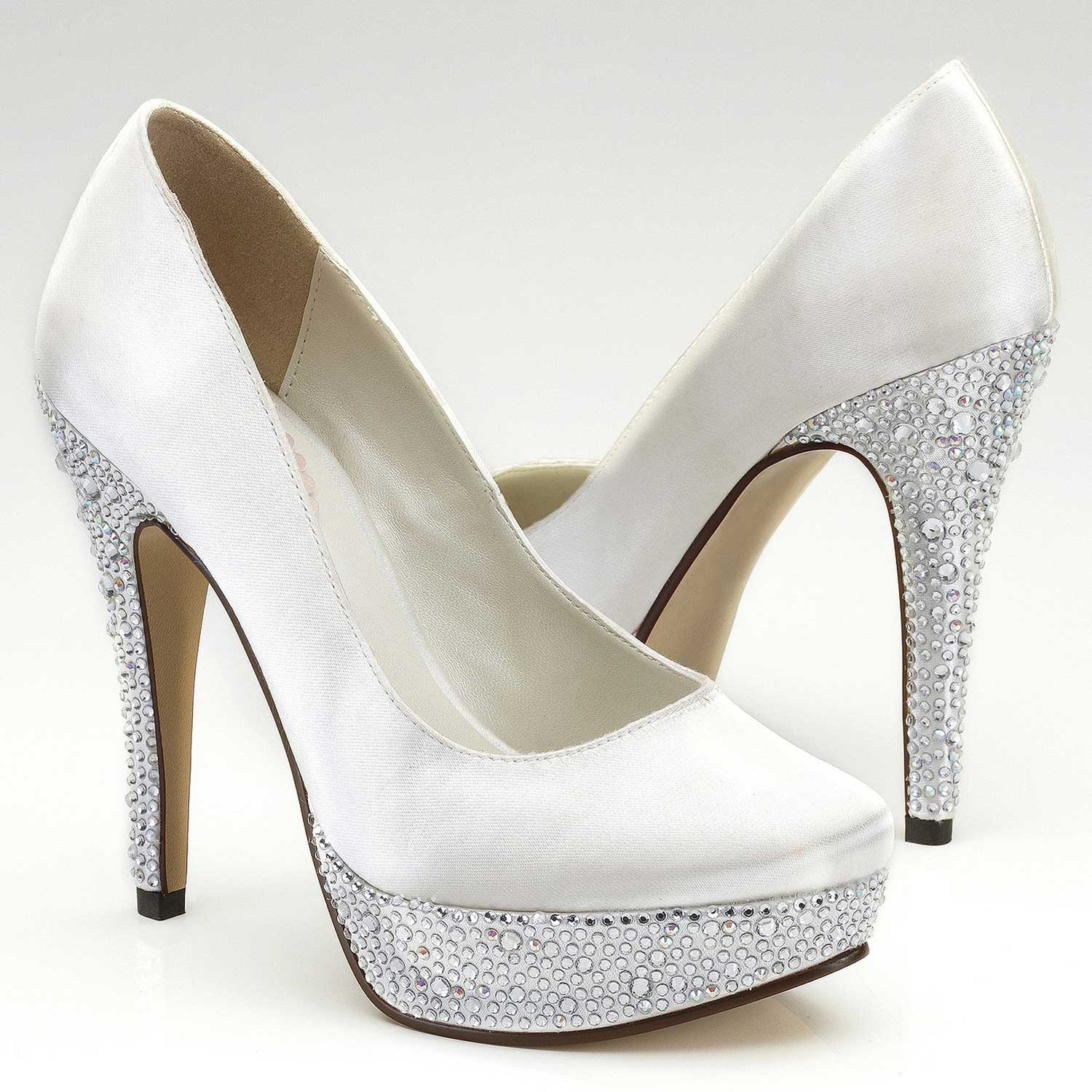 chaussures mariage bedazzle - Chaussure Compense Mariage