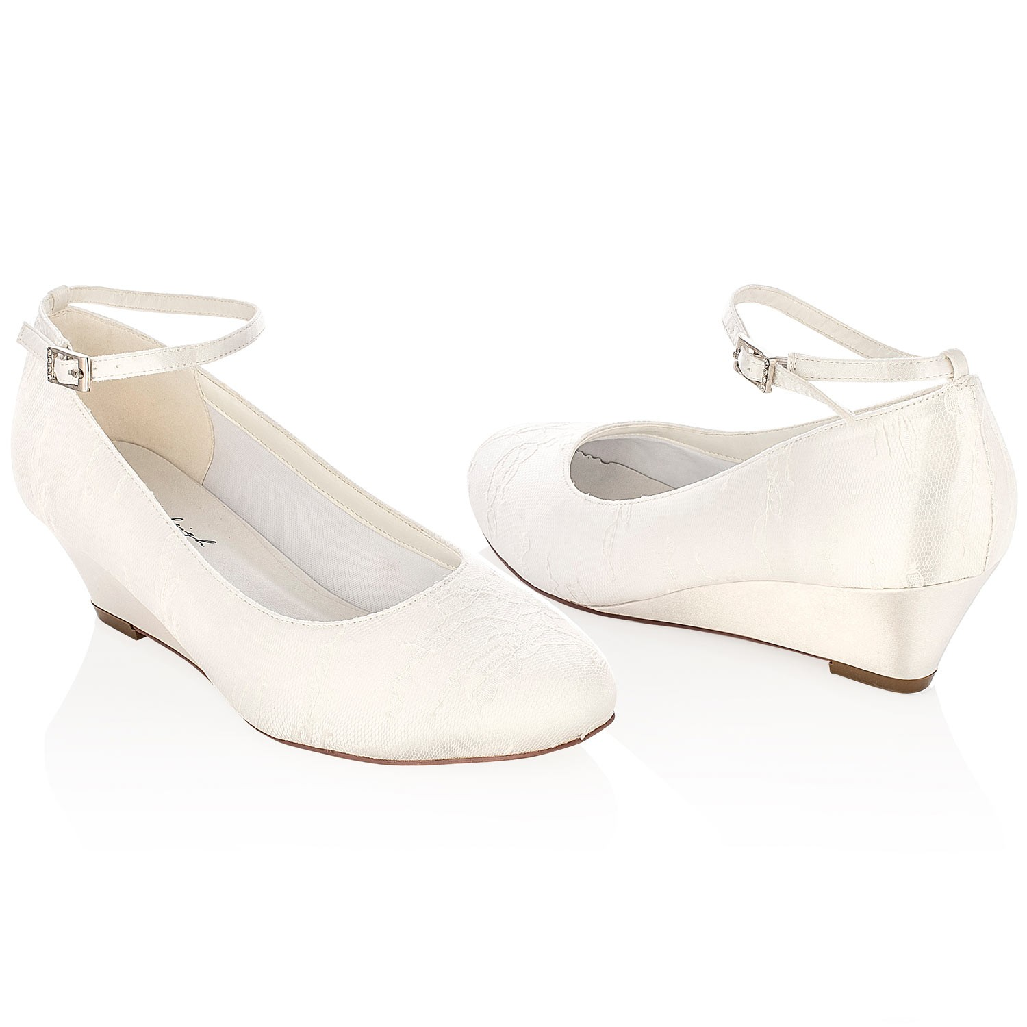 chaussure mariage ivoire talon compens iris - Chaussures Compenses Blanches Mariage