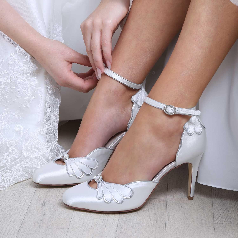 chaussures originales satin ivoire leona perfect. Black Bedroom Furniture Sets. Home Design Ideas