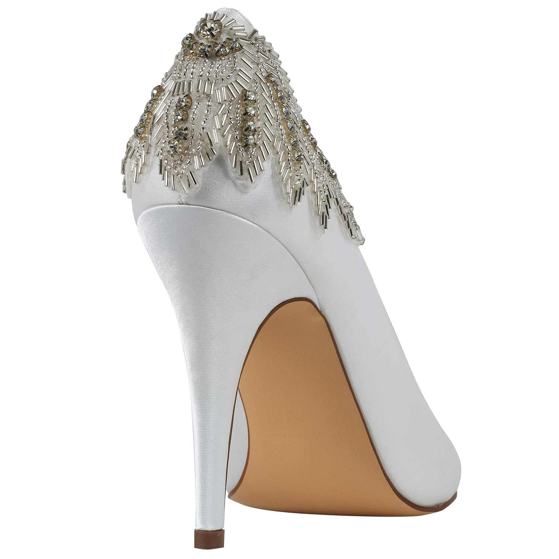 chaussure de mariage satin ivoire bout rond et talon haut trinket pink par paradox. Black Bedroom Furniture Sets. Home Design Ideas