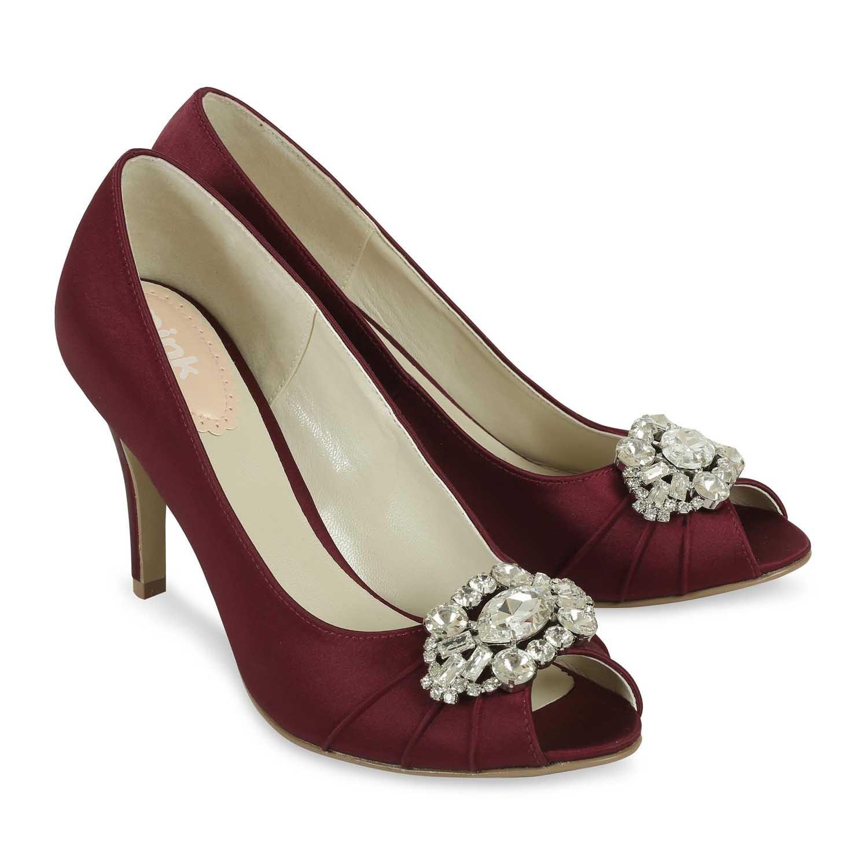 chaussure pour robe de soirée bordeaux
