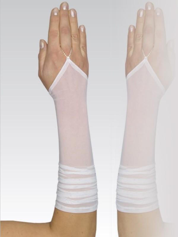 Gants de mariée mi-longs en tulle ivoire Celeste e2d3f5e388e0