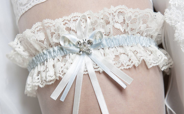 jarrtiere mariage ivoire papillon cristal - Jarretiere Mariage