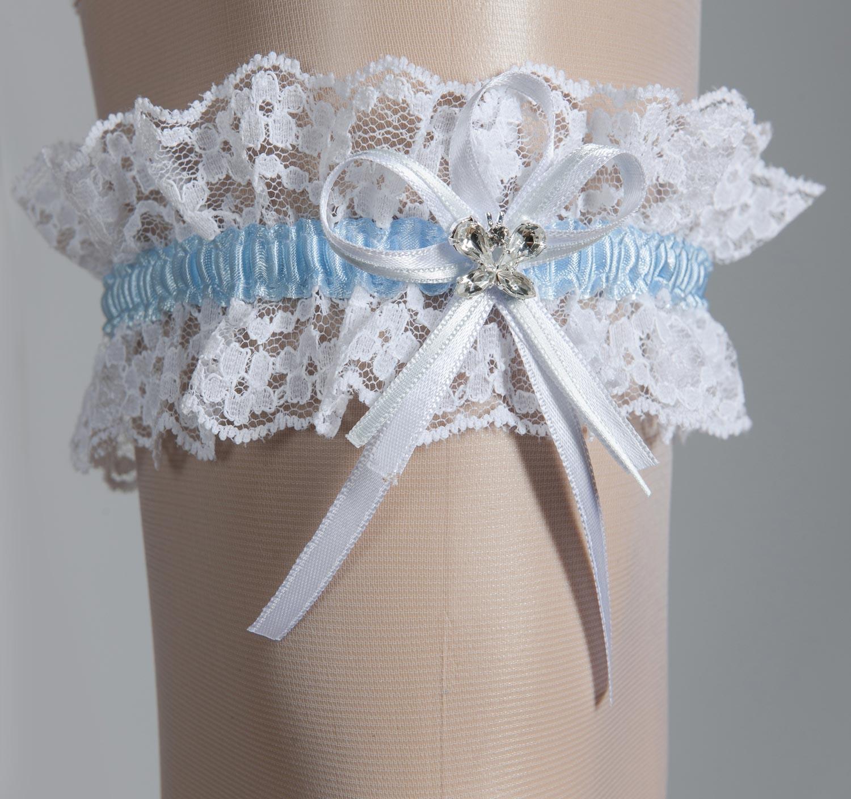 jarrtiere mariage ivoire papillon cristal jarrtiere mariage blanc papillon cristal - Jarretiere Mariage