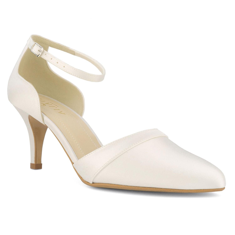 chaussure de mariée ivoire en cuir