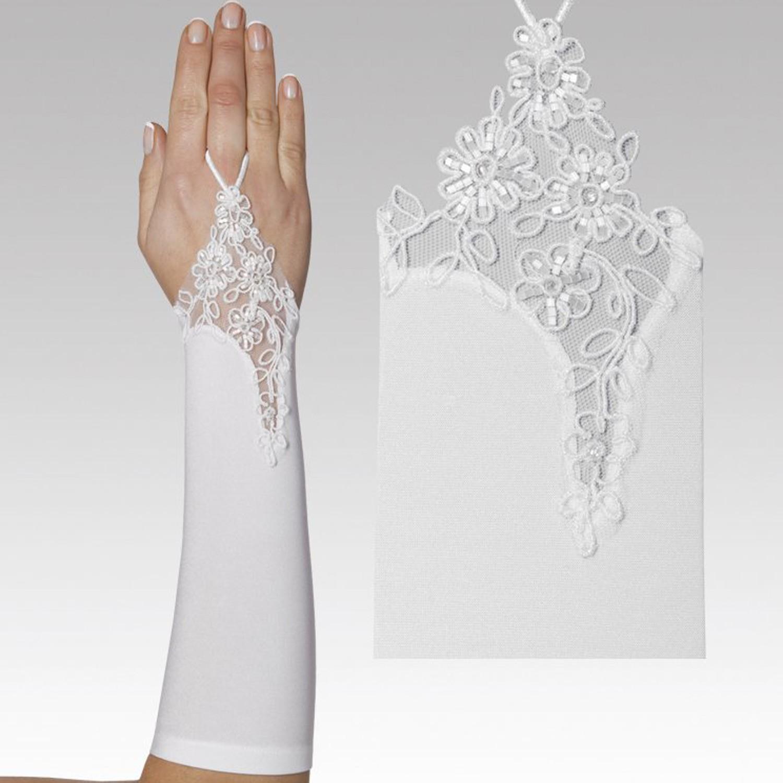 gants mari e mi longs avec broderies alice instant pr cieux. Black Bedroom Furniture Sets. Home Design Ideas