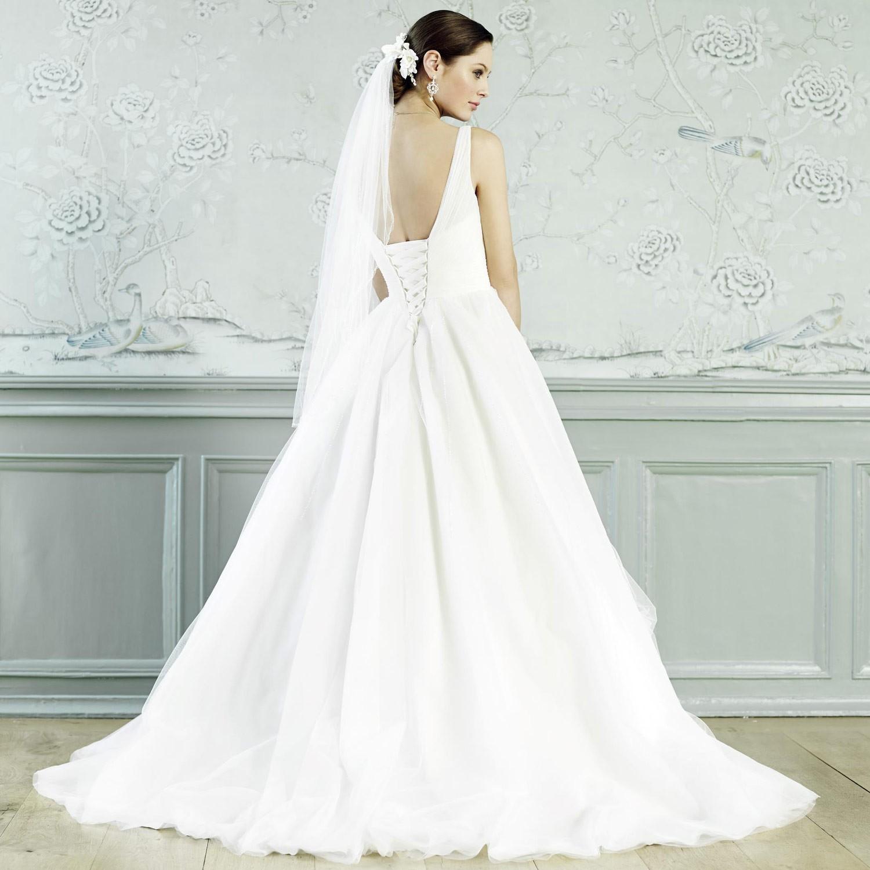 robe de mari e bretelles coupe princesse aurora. Black Bedroom Furniture Sets. Home Design Ideas