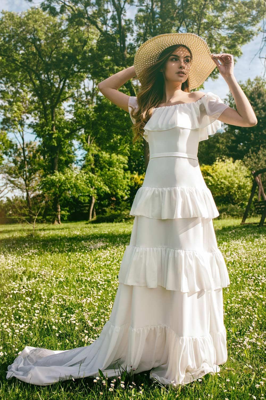 Robe de mariée bohème hippie chic Cassandre