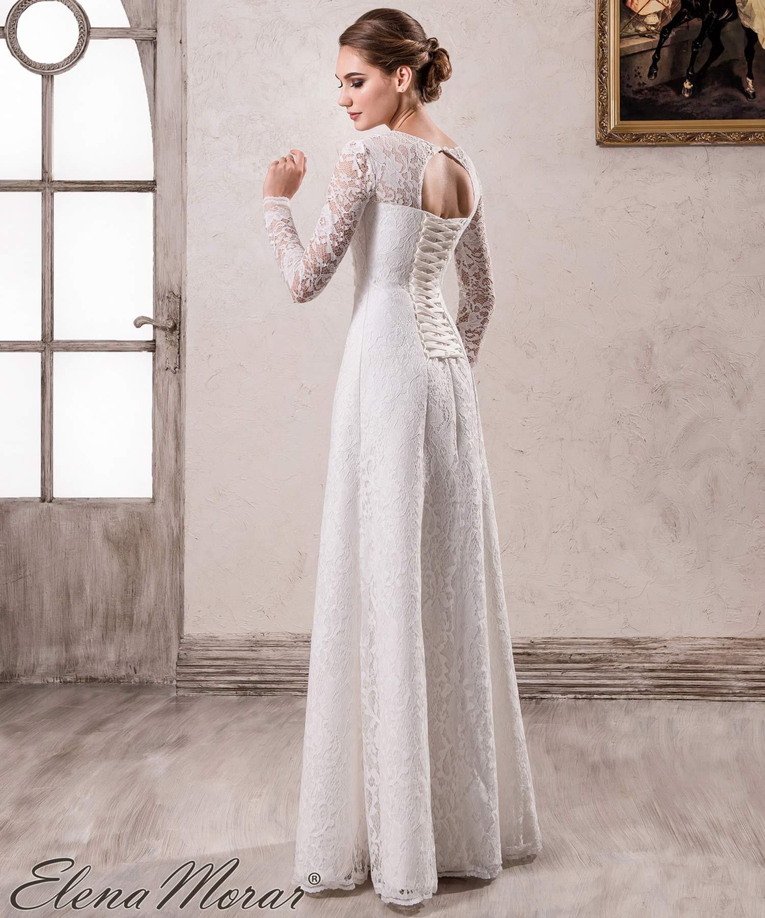 Robe de mariage dentelle à manches longues