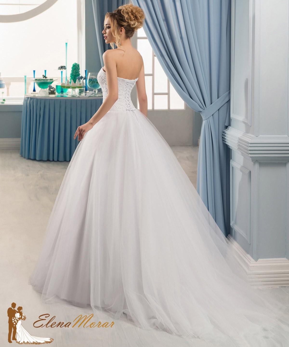robe de mariage princesse en tulle et bustier dentelle oxana. Black Bedroom Furniture Sets. Home Design Ideas