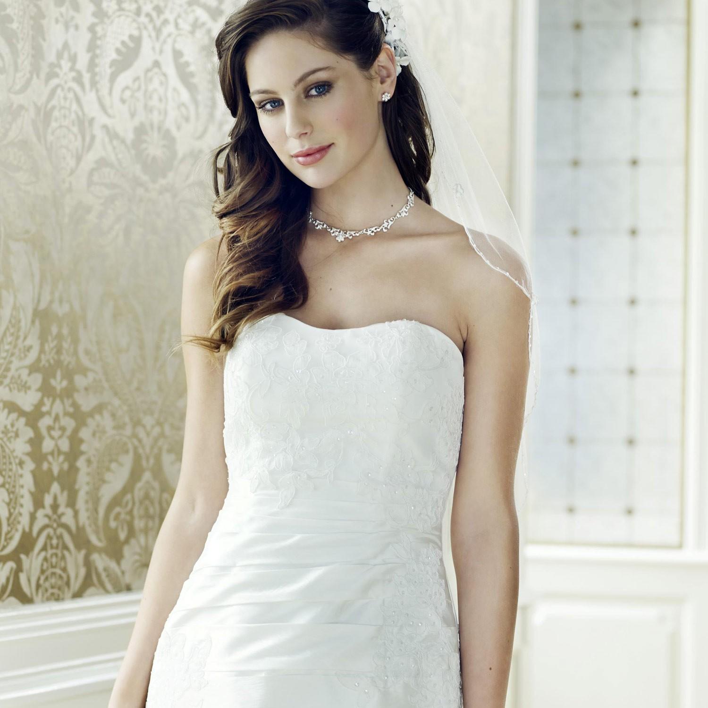 Robe de mariage taffetas ivoire et dentelle Juliette