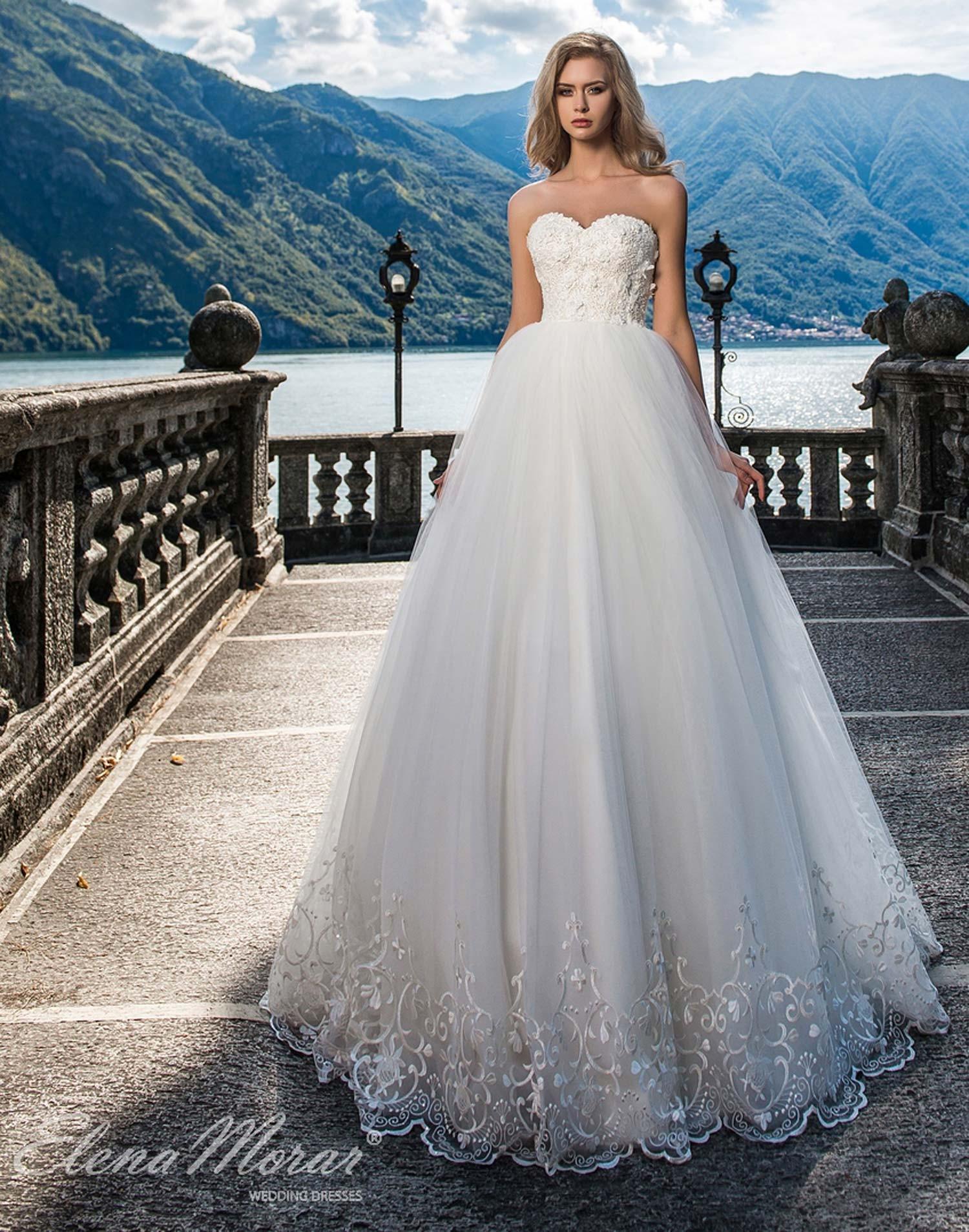 Robe de mariage princesse tulle et broderies
