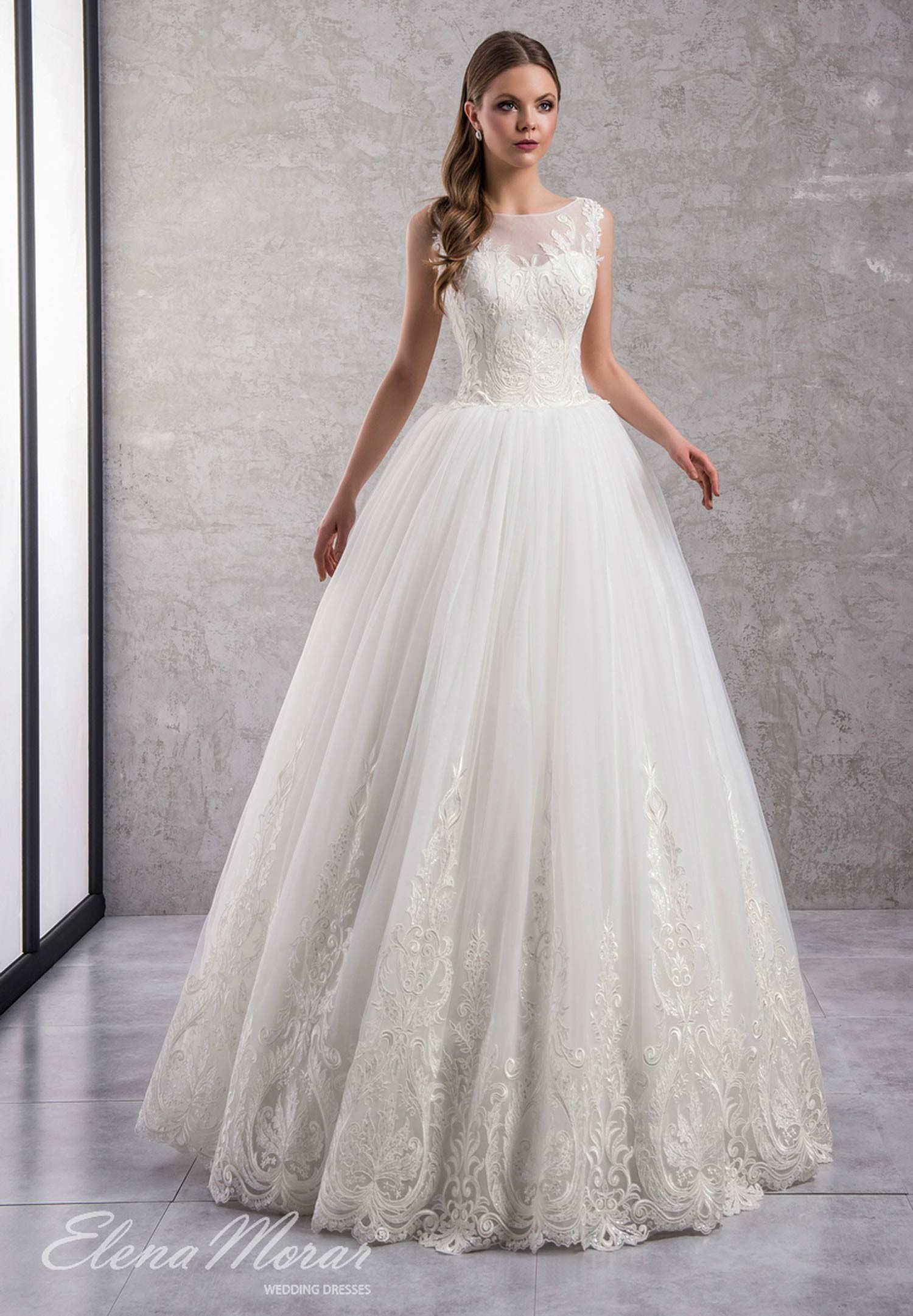 Robe de mariée princesse tulle et dentelle Liza