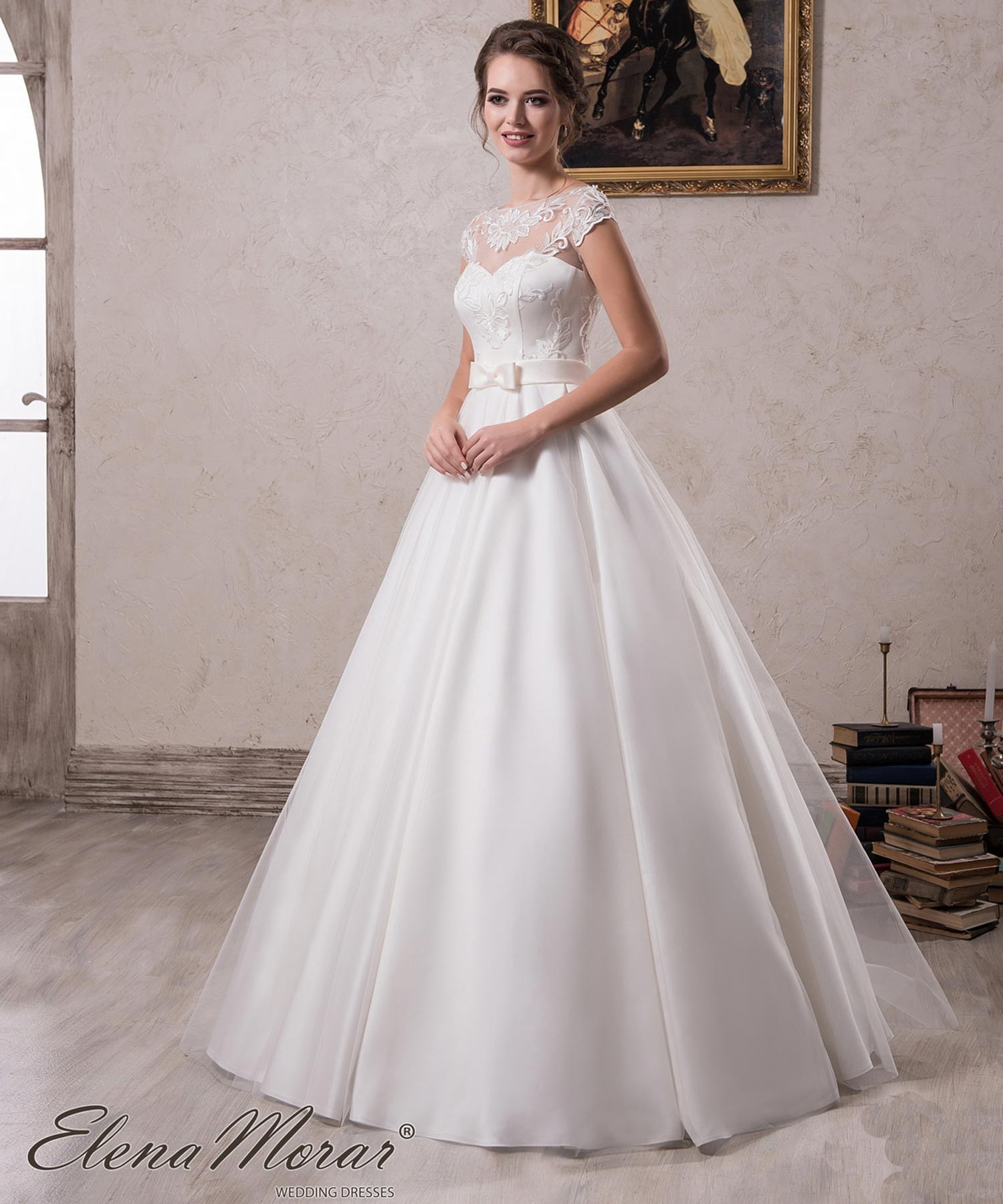 pas mal 48104 d11a9 Robe de mariage princesse satin et dentelle Selena