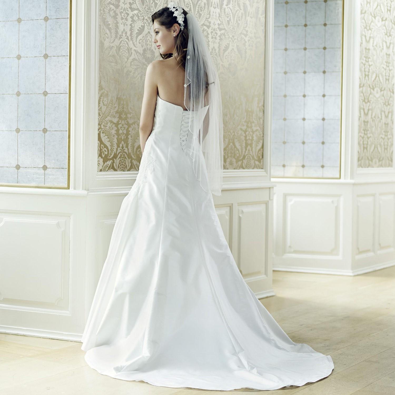 Robe de mariée taffetas ivoire et dentelle Juliette