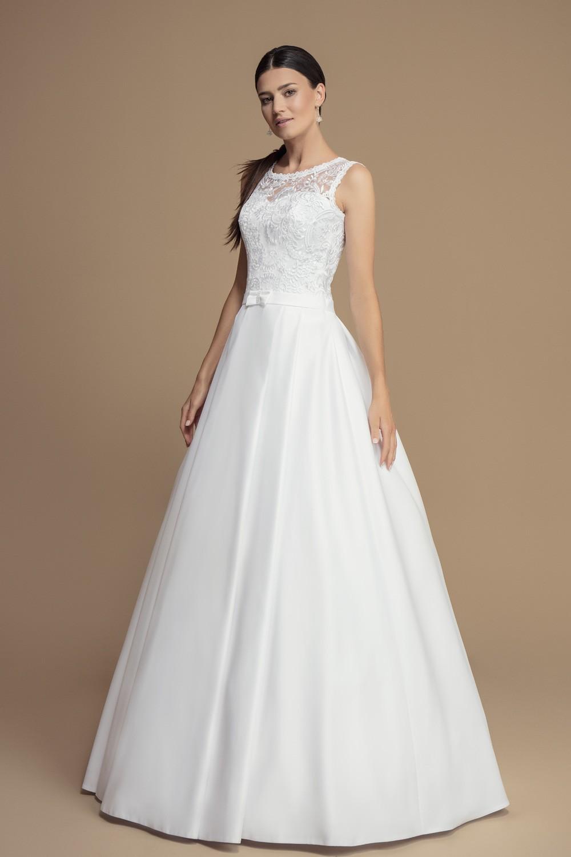 Robe de mariée bustier dentelle et ceinture