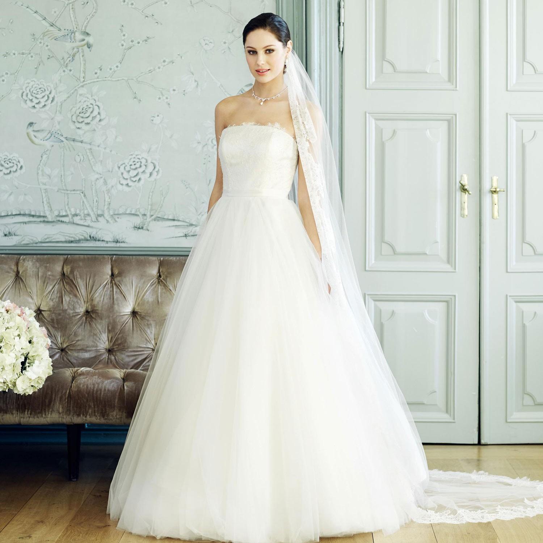 Robe de mari e princesse ivoire en dentelle et tulle for Robes de mariage de juin