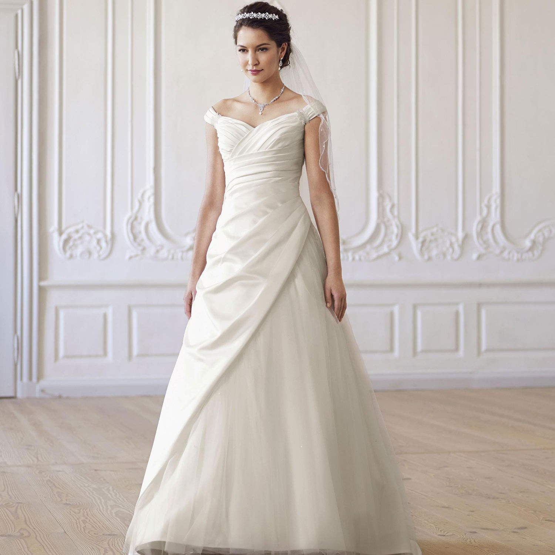 Robe de mari e bretelles larges emma for Robe de mariage
