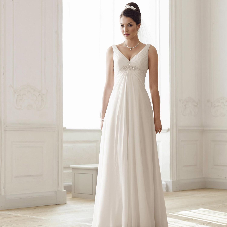 robe de mari e empire ivoire avec encolure en v vicky