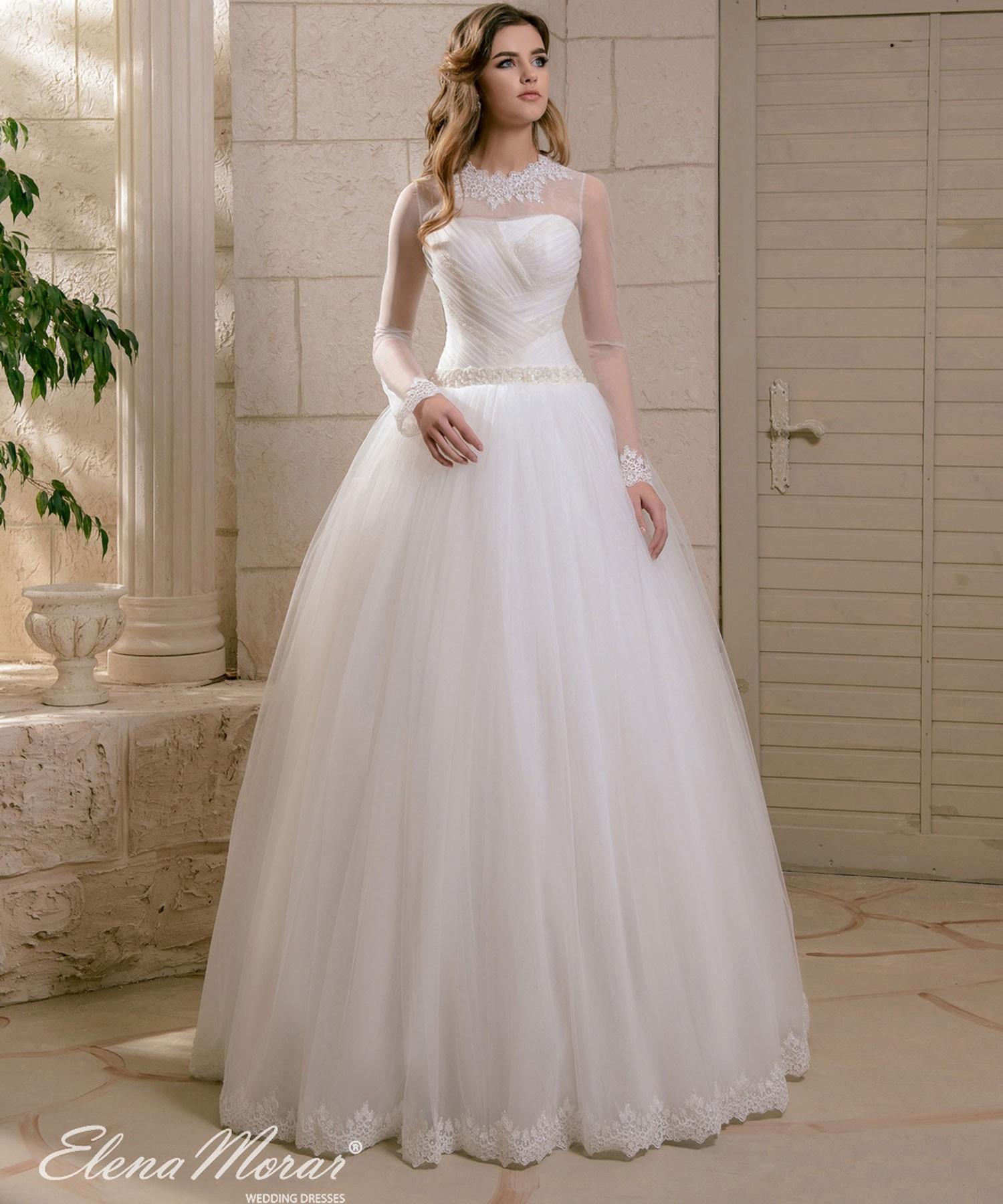 outlet boutique cheaper huge sale Robe de mariée princesse manches longues Asya