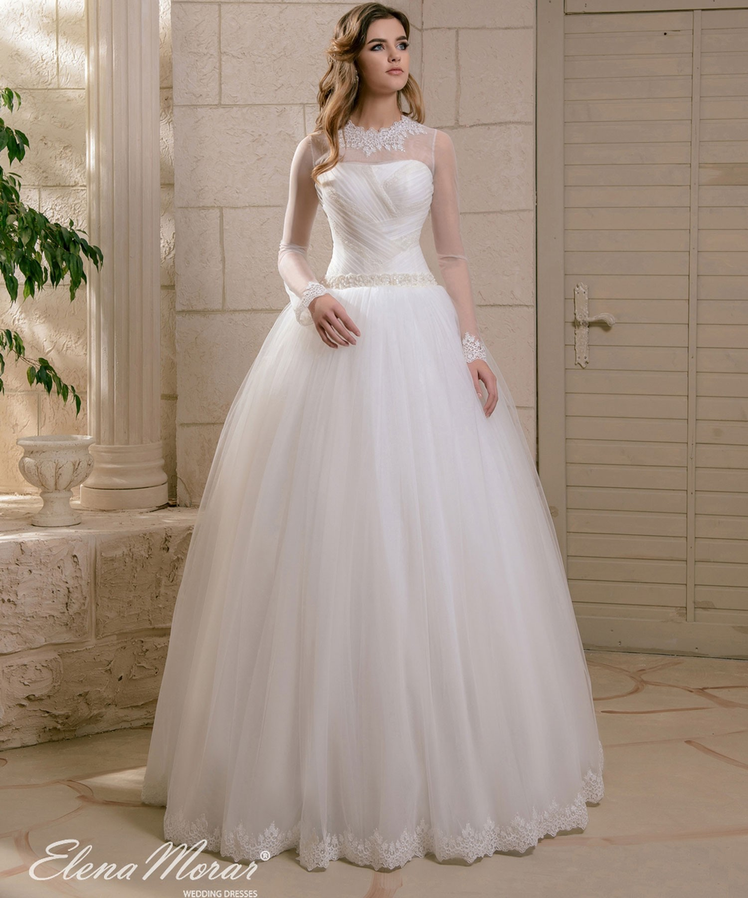 Robe de mariée princesse manches longues Asya