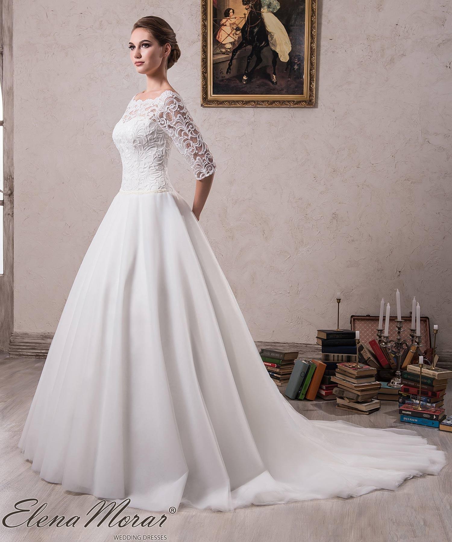 Robe de mariée dentelle à manches 3/4 Roksana