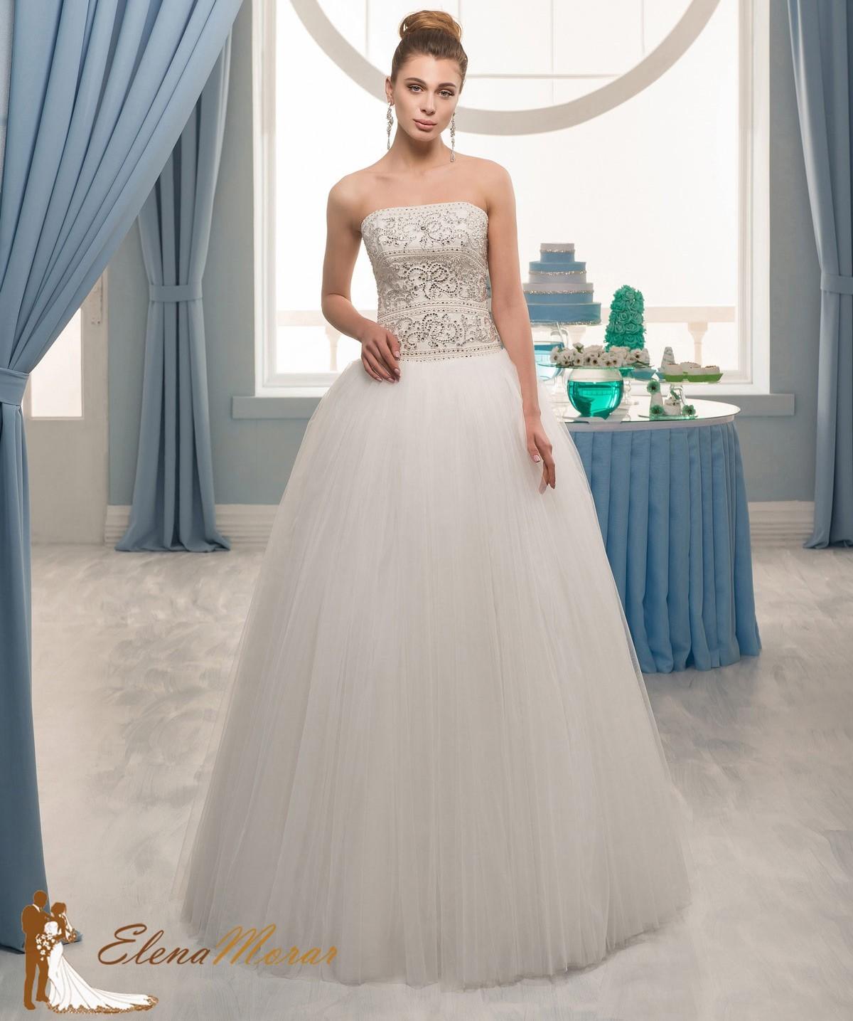 robe mariage princesse en tulle avec bustier tincelant marya. Black Bedroom Furniture Sets. Home Design Ideas