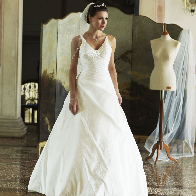 7b7a91998af16 Robe de mariage pas cher en taffetas - Instant Précieux