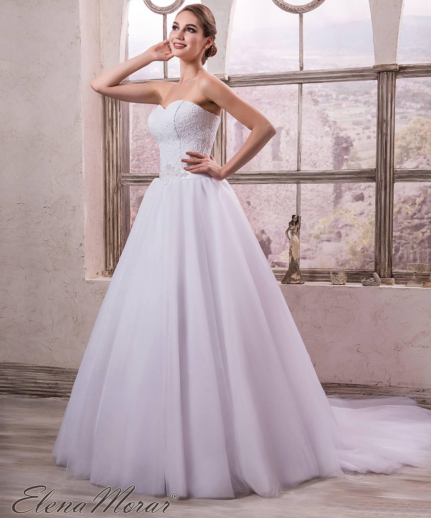 Robe de mariée princesse bustier cœur dentelle Anya