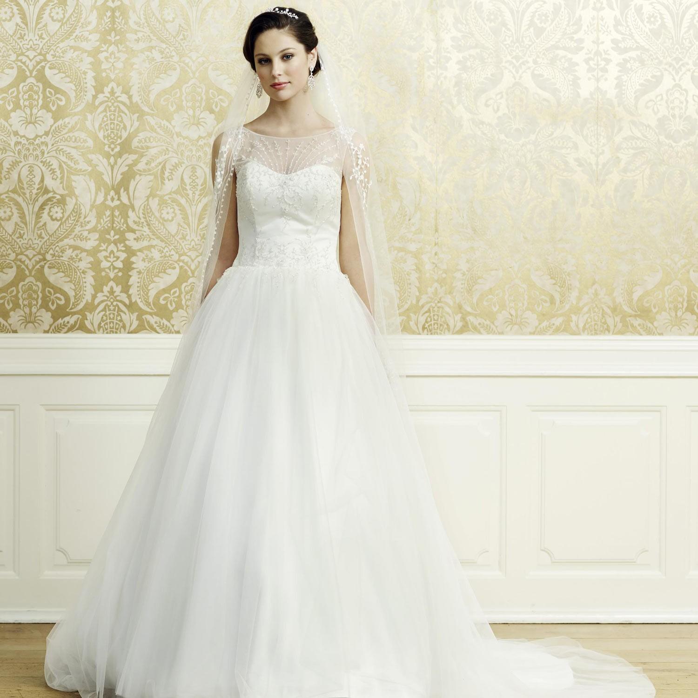 Robe de mariage princesse ivoire bretelles l a for Robes de mariage de juin