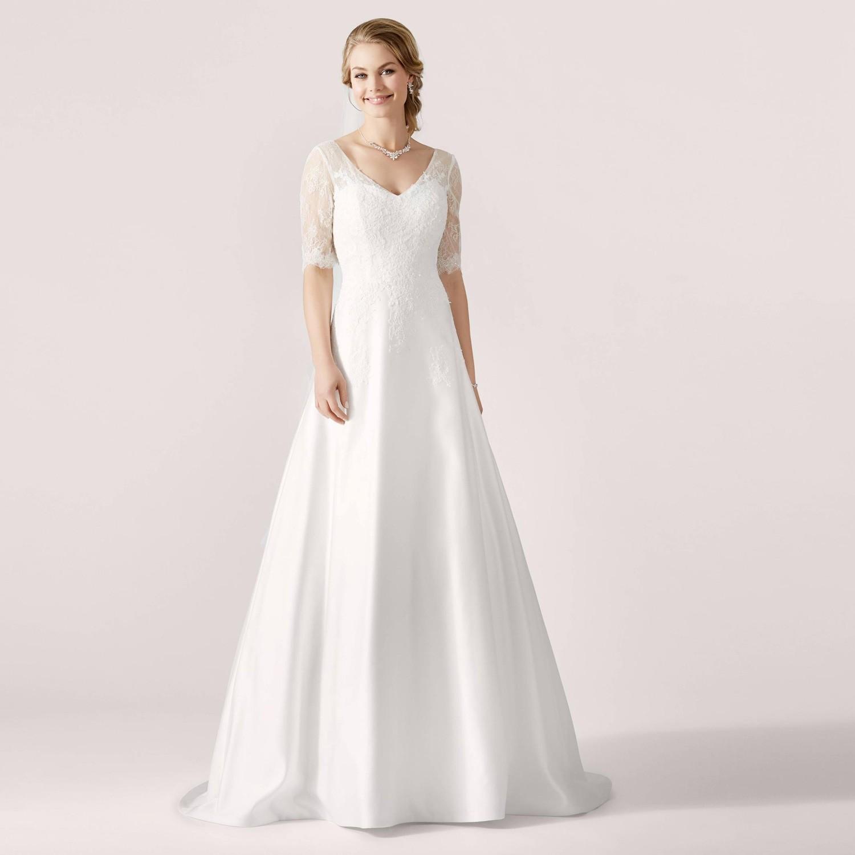 Robe de mariée princesse dentelle à manches