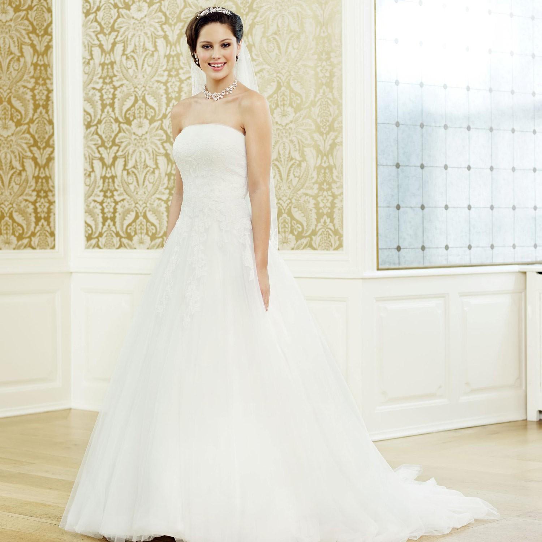 Robe de mari e princesse bustier droit dentelle et tulle - Robe de mariee transparente ...
