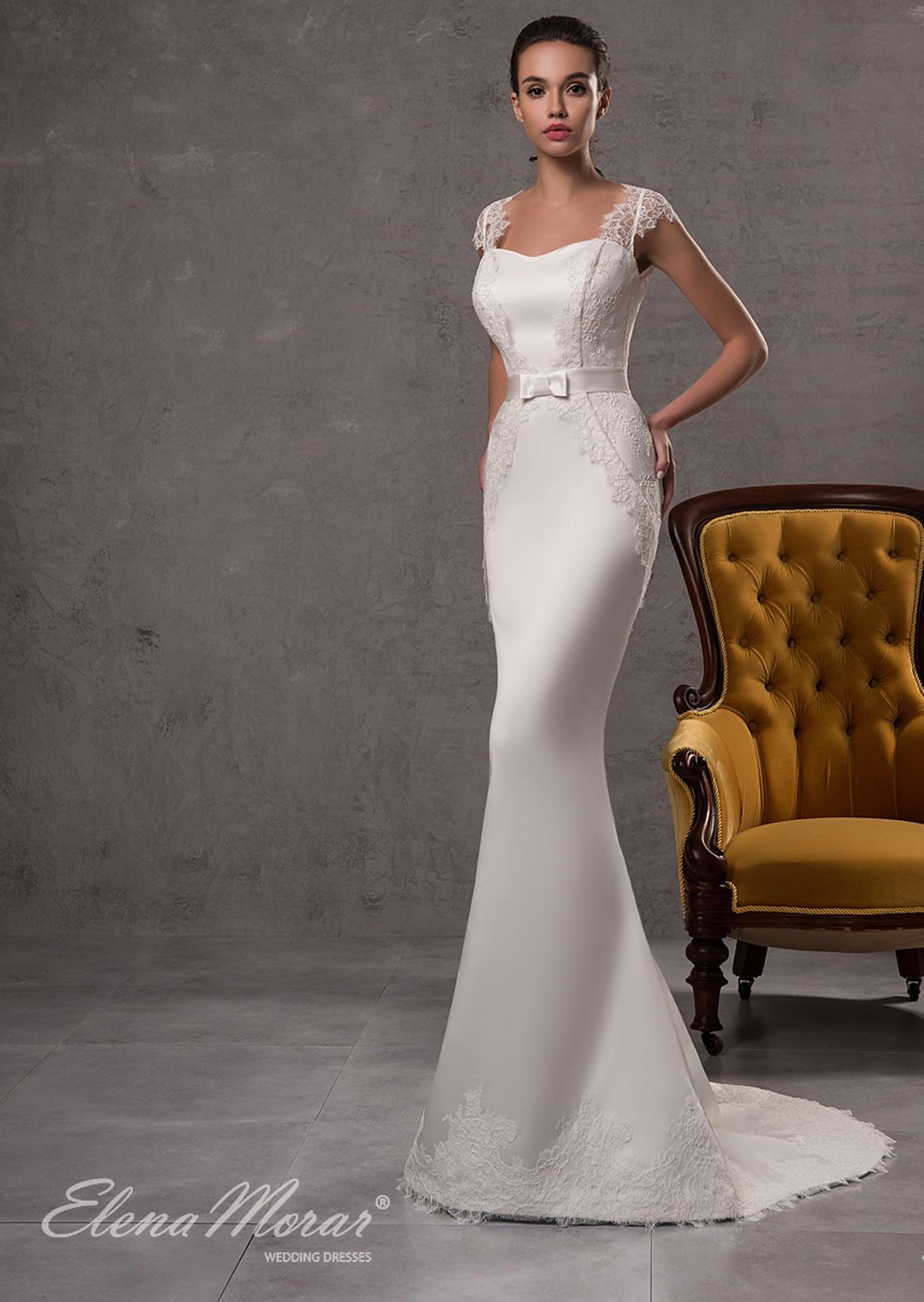 Robe de mariée sirène satin et dentelle Oksana