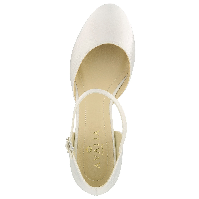 Chaussures de mariage à petits talon Sissi Avalia