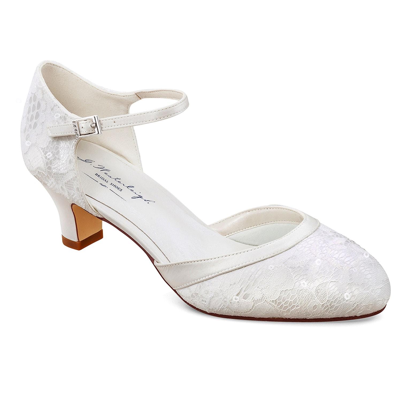 Mira Westerleigh chaussures de mariage petit talon en