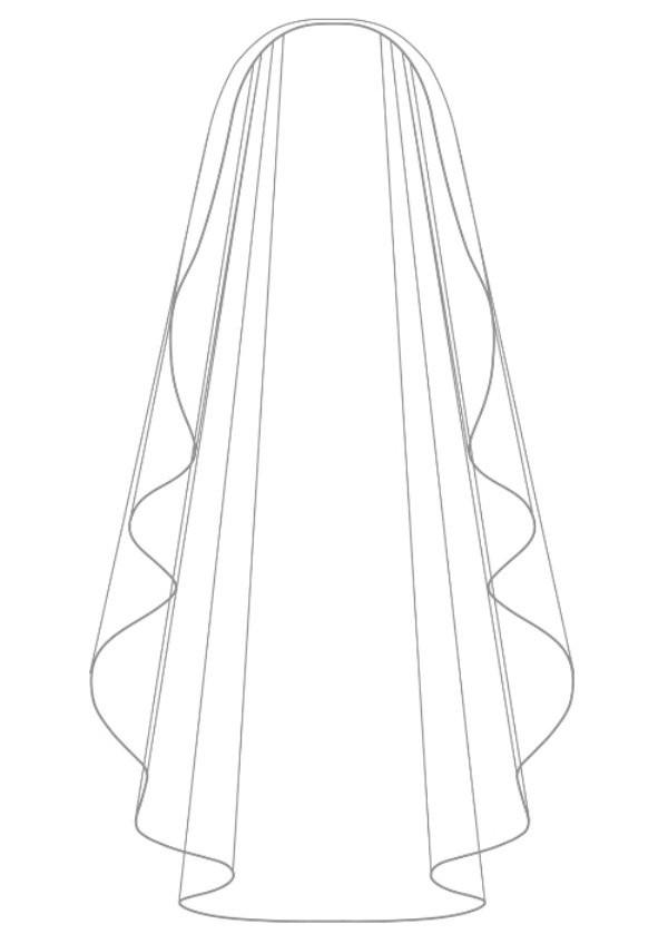 voile mariage mi long ivoire bordure perles de verre carmela. Black Bedroom Furniture Sets. Home Design Ideas