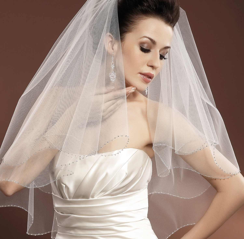 voile de mari e tulle italien ivoire ou blanc et perles de verre apollinariya. Black Bedroom Furniture Sets. Home Design Ideas
