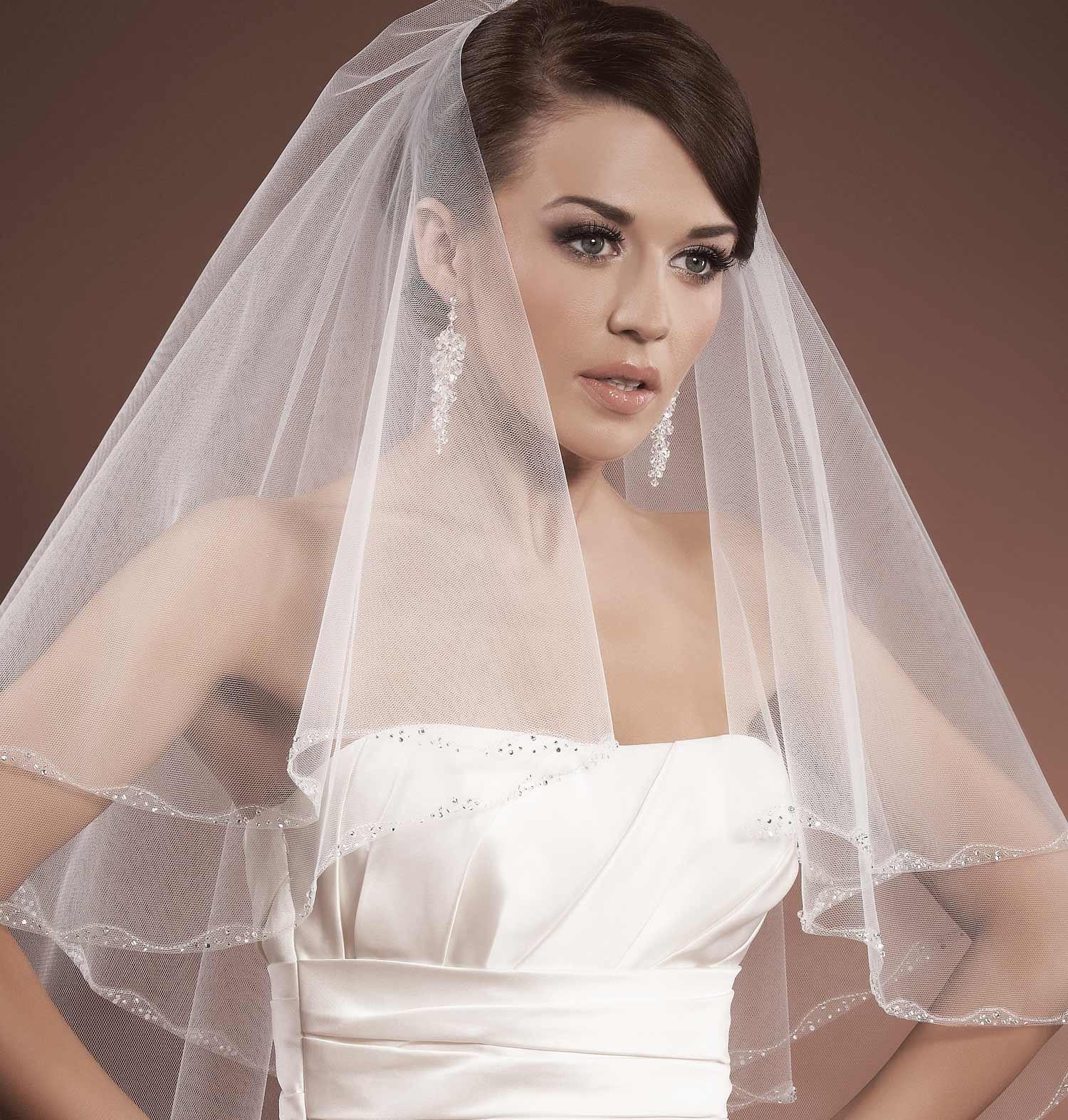 voile mariage tulle italien perles verre et strass brod s zita. Black Bedroom Furniture Sets. Home Design Ideas