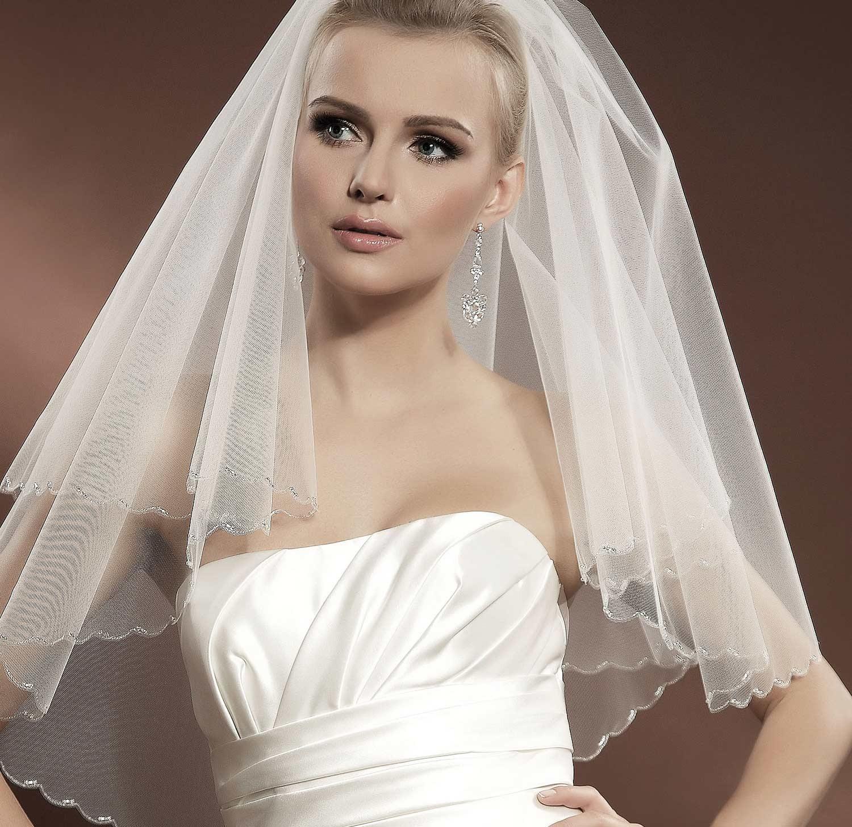 voile mari e tulle ivoire ou blanc avec perles de verre ivanna. Black Bedroom Furniture Sets. Home Design Ideas