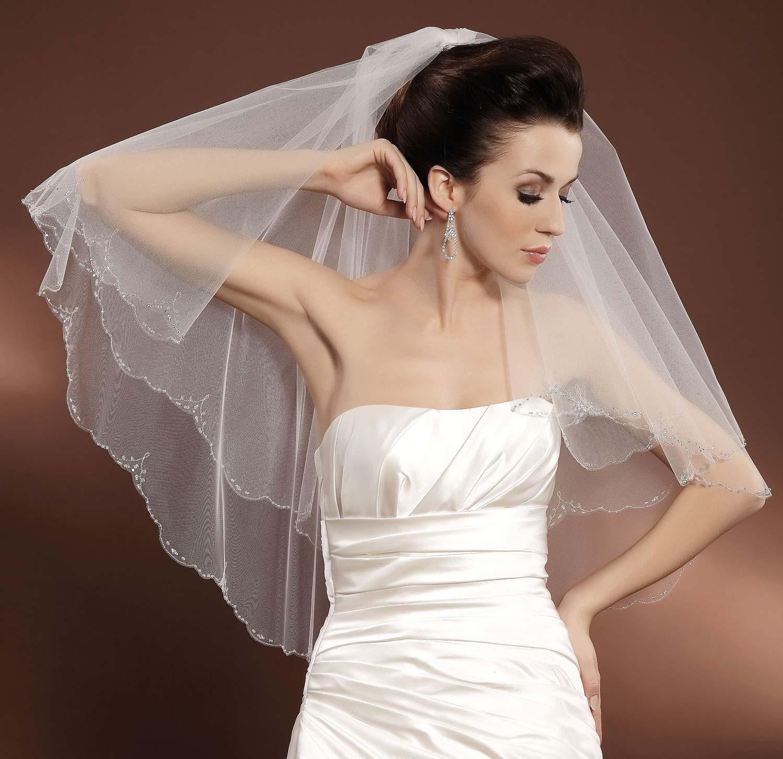 voile mari e tulle italien ivoire ou blanc avec perles de verre et cristal swarovski dunya. Black Bedroom Furniture Sets. Home Design Ideas