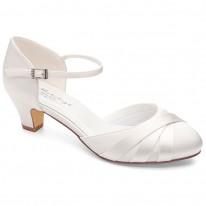 09a2af7f284da Chaussures de mariée petits talons Blanca