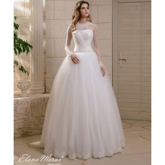 Robe de mariage dentelle à manches longues Inna