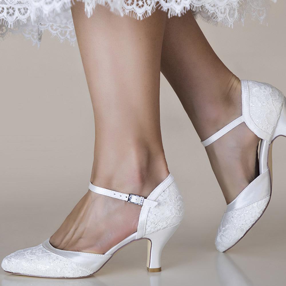 Chaussures mariage dentelle pailletée Maggie