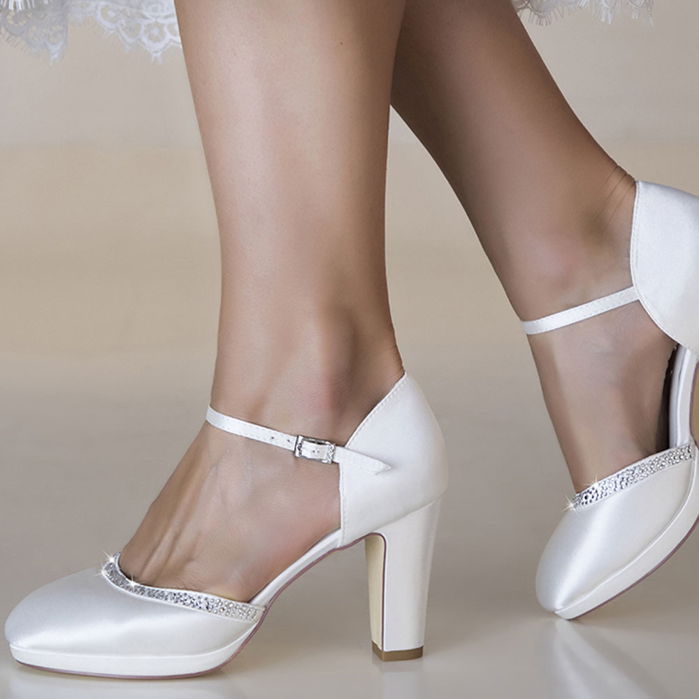 Chaussures mariage bordure cristal Gabrielle