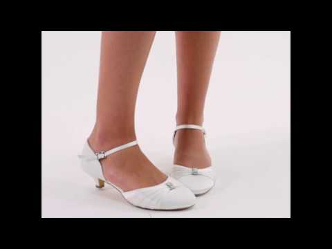 Chaussure mariage satin et applique en strass Heid