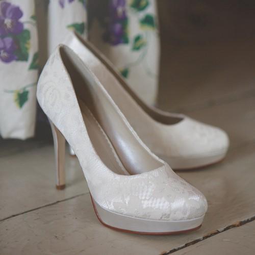 Chaussures mariée plateforme